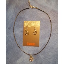 Collier Bretzel en métal