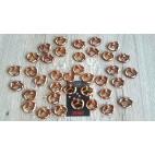 Boucles d'oreilles bretzels pendantes