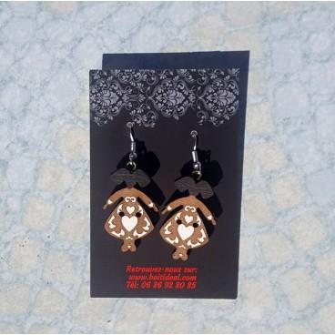 Boucles d'oreilles ''Petites Alsaciennes'' Coiffes noires