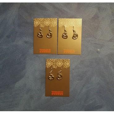 Boucles d'oreilles bretzels pendantes en métal